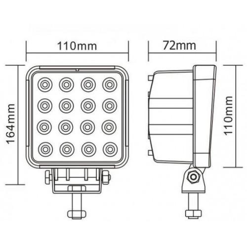 Phare de travail 16 LED
