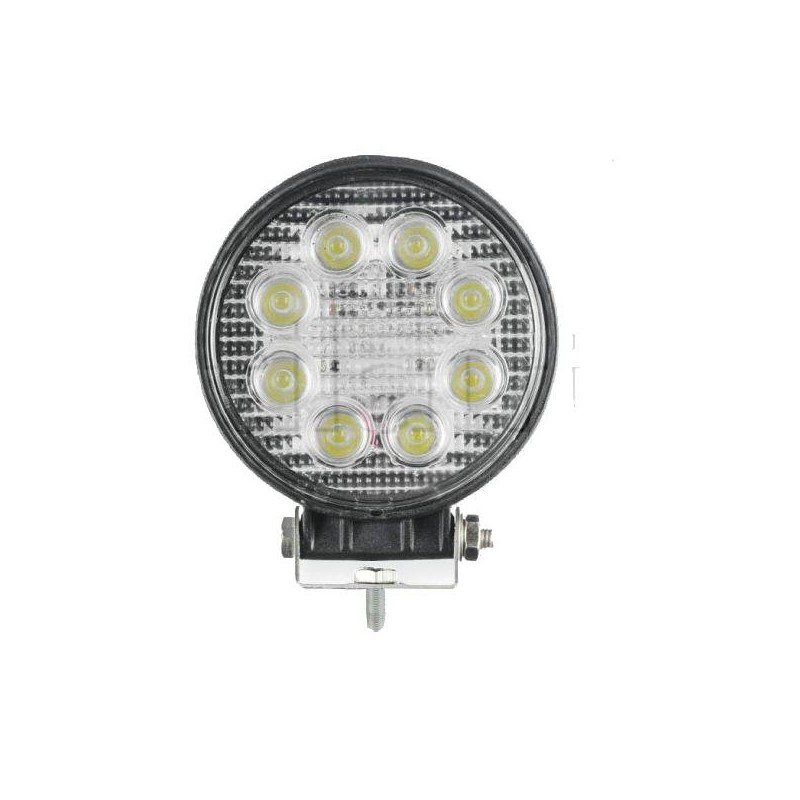 Phare travail led rond 8 Leds