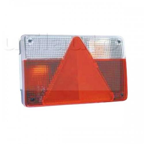 Feu arrière compact à ampoules - 12 Volts - 235 x 135 x 52 mm 5 fonctions droit