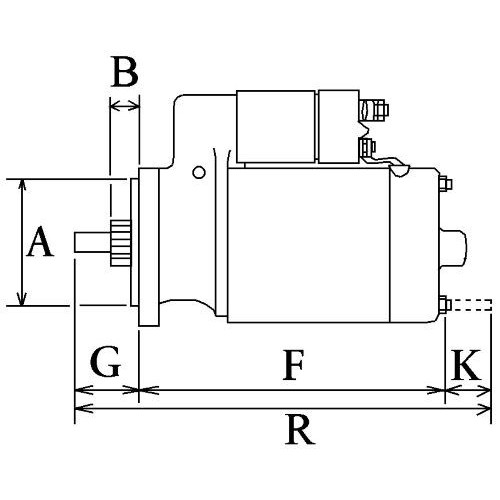 Démarreur Bosch 0001112038