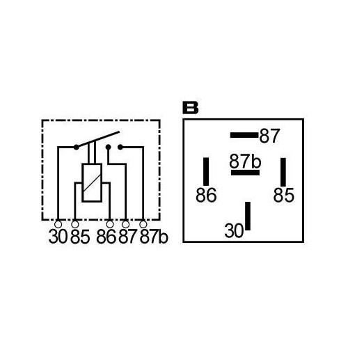 Relais double contact 2X15A