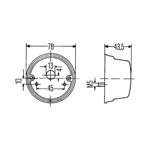 Feu clignotant 12 volts Hella 2BE 001 259-061