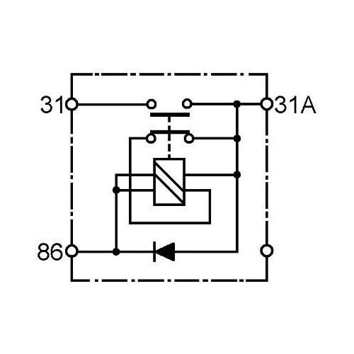 Coupe batterie éléctromagnétique