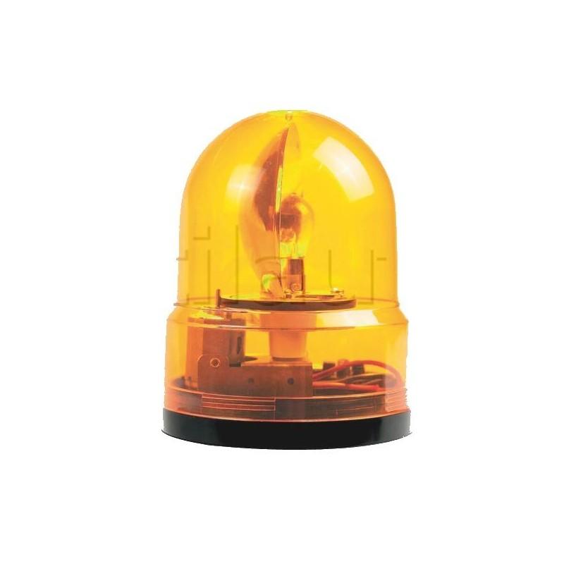 Gyrophare orange à fixer incassable - 12/24 Volts