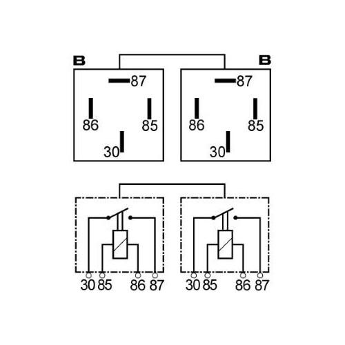 Double relais 12 Volts