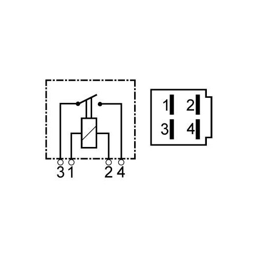 Mini relais 12 V 25 A
