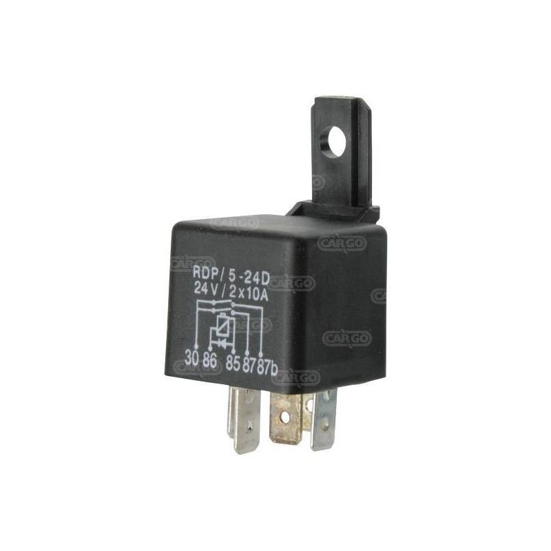 Relais 24 V 2 x 10 A avec diode