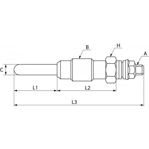 Bougie de préchauffage 12 V, Beru 0100221108, Bosch 0250200066