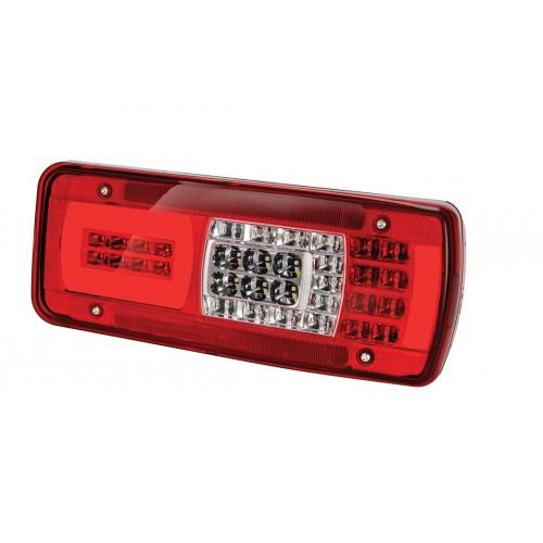 LC11 LED - Feu arrière LED Droit, Alarme, conn HDSCS 8 voies Latéral IVECO vignal 160090