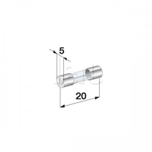 Fusibles Verre 5A- Diamètre 5 x Longueur 20 mm