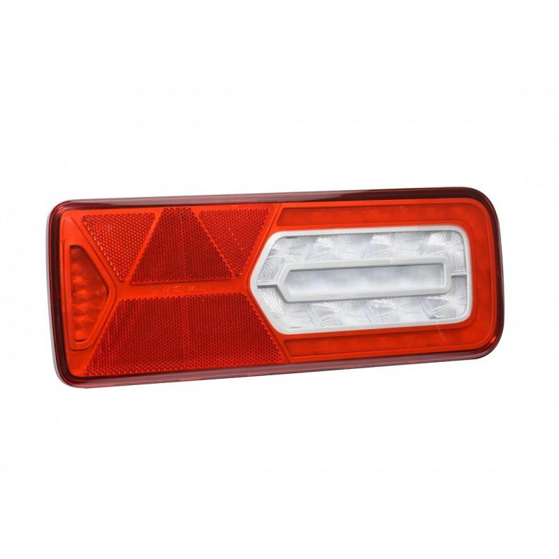 LC12 LED - Feu arrière LED Droit 24V, Conn additionnels, triangle vignal 161010