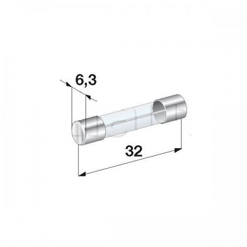10 Fusibles Verre 6 x 32 mm Puissance 1,6 Ampére Retard ou Temporise