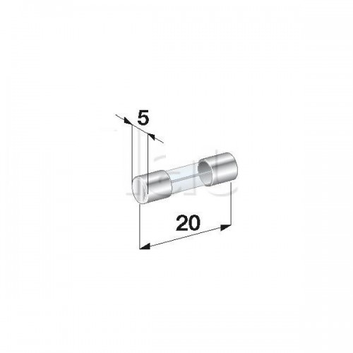 Fusibles Verre 20A - Diamètre 5 x Longueur 20 mm - Vendu à l'unité