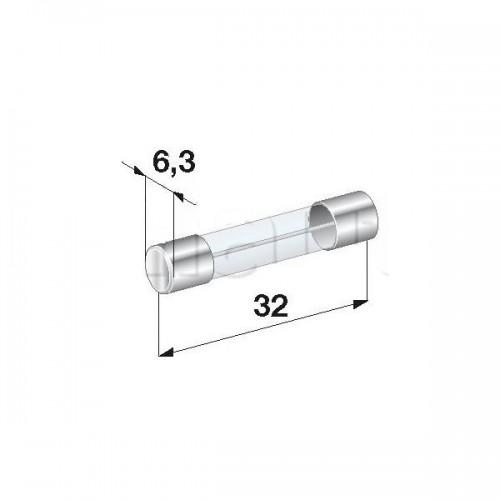 Fusibles Verre 25A- Diamètre 6 x Longueur 32 mm -Vendu à l'unité