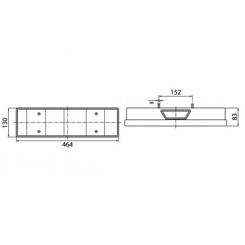 LC7 - Feu arrière Droit avec EPP et connecteur PE arrière vignal 168140