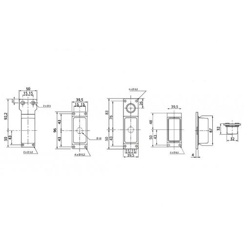 FE88 - Feu de gabarit et d'encombrement Ampoules 12/24V cristal + rouge vignal 188110