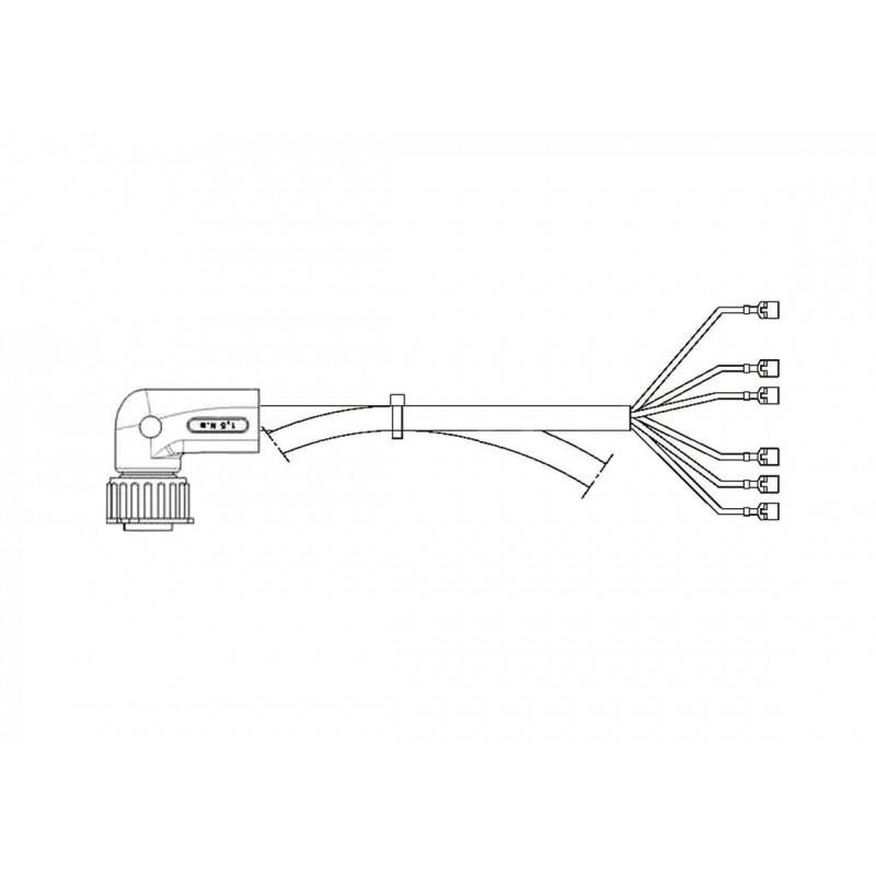 FCA - Faisceau feu arrière 7 voies connecteur coudé 4000 mm vignal 280049