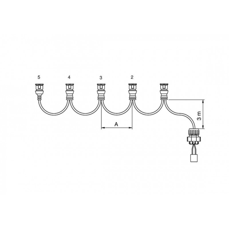 FCA - Faisceau feux latéraux 4 connecteurs JPT 3,5 m vignal 280099
