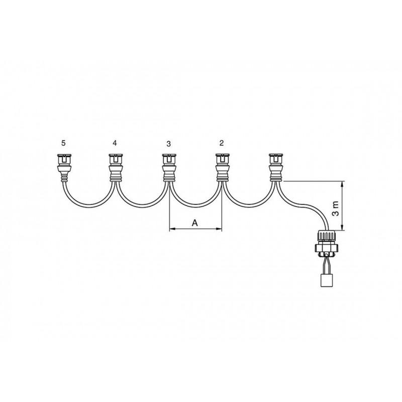 FCA - Faisceau feux latéraux 3 connecteurs JPT 5,5 m vignal 280129