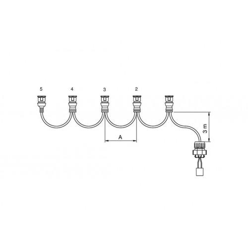 FCA - Faisceau feux latéraux 4 connecteurs JPT 5,5 m vignal 280139