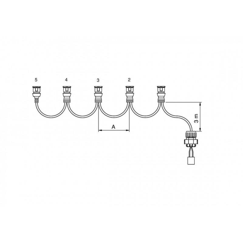 FCA - Faisceau feux latéraux 5 connecteurs JPT 5,5 m vignal 280149
