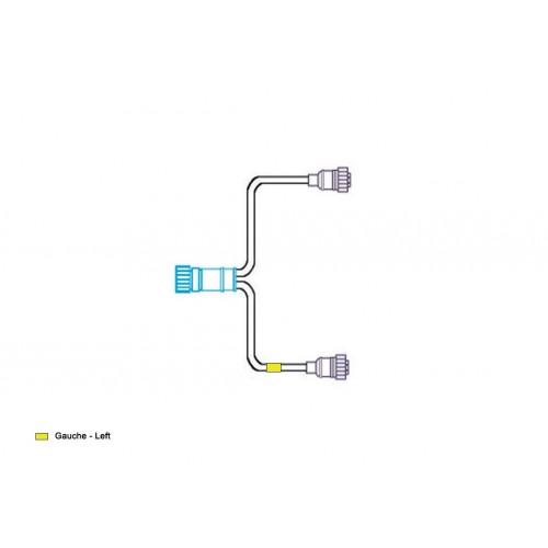 FCA - Faisceau pour feux arrière avec surmoulages droits 16V vignal D10513