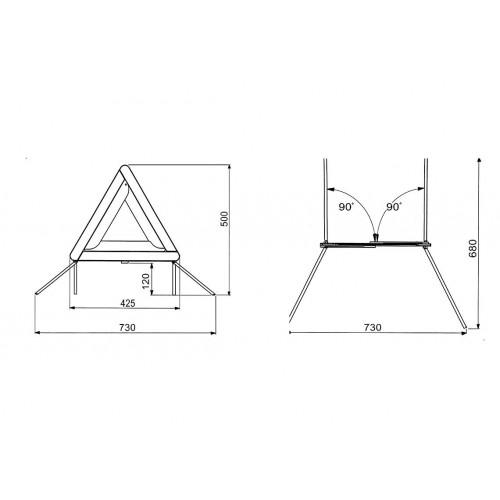 TRI - Triangle de présignalisation vignal D10596