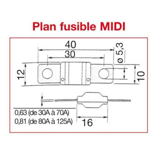 FUSIBLE MIDI 80 AMPERES x10