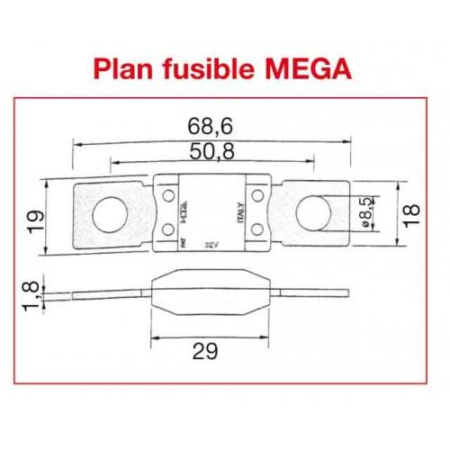 FUSIBLE MEGA 500 A x10