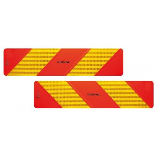 R70 - 2 Plaques ECE 70/01 adhésifs 565 x 130 vignal D11256