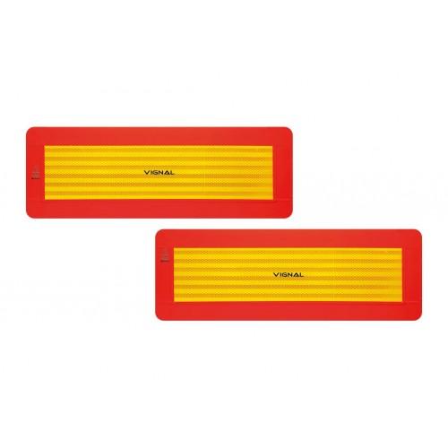 R70 - 2 Plaques ECE 70/01 remorques adhésif 565 x 195 vignal D11259