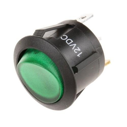Interrupteur à bascule lumineux Vert Marche-arrêt