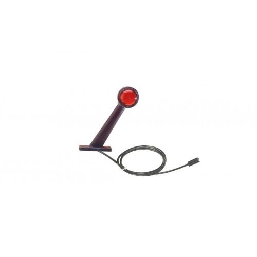 DX - Feu de gabarit et d'encombrement Ampoules 12/24V cristal + rouge câble click in vignal D11796