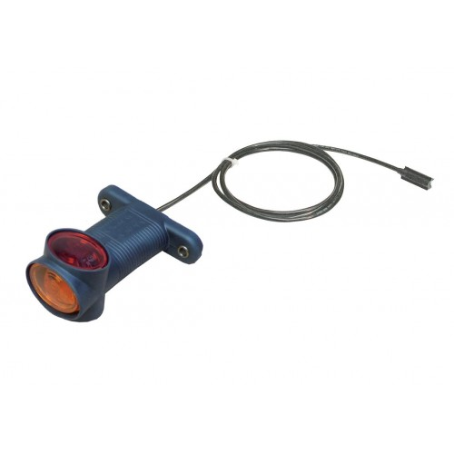 DX - Feu de gabarit et d'encombrement Ampoules 12/24V cristal + rouge + ambre câble click in