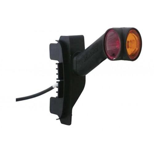 DXLC8 - Feu de gabarit Ampoules 12/24V cristal + rouge + ambre montage sur LC8
