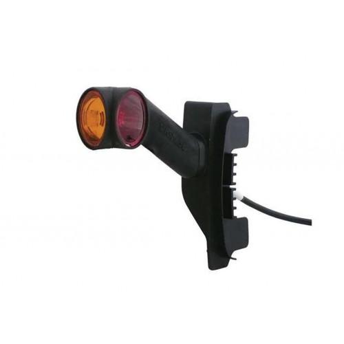 DXLC8 - Feu de gabarit Ampoules 12/24V cristal + rouge + ambre montage sur LC8DXLC8 - Feu de gabarit Ampoules 12/24V