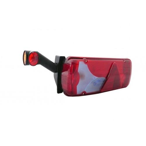 DXLC8 - Feu de gabarit et d'encombrement Ampoules 12/24V cristal + rouge + ambre montage sur LC8
