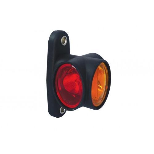 DX LED - Feu de gabarit symétrique LED 12/24V cristal + rouge + ambre VIGNAL D14031