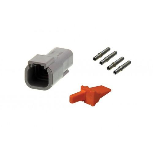 CONN - Kit de réparation connecteur Deutsch 4 voies DTM04-4P mâle VIGNAL D14435