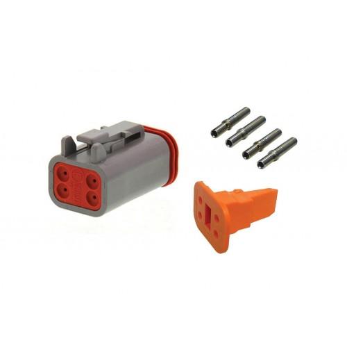 CONN - Kit de réparation connecteur Deutsch 4 voies DT 06-4S femelle VIGNAL D14436