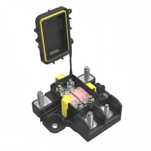 Boîtier de protection électrique + distribution pour 2 fusibles MEGA