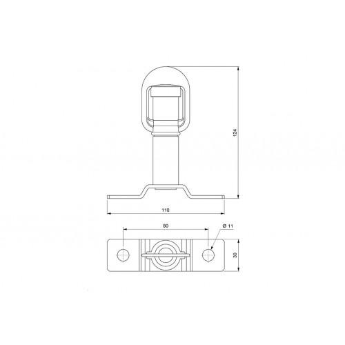 Accessoires gyrophares - Tige avec support central - ISO 4148/4165 VIGNAL D14514