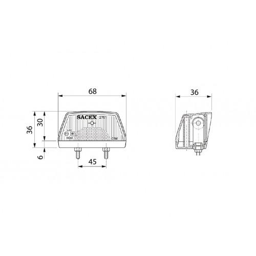 2751 - Eclaireur de plaque compact VIGNAL D14517