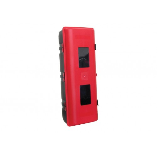 Coffres à extincteurs - Coffre extincteur 9kg rouge sangle plastique