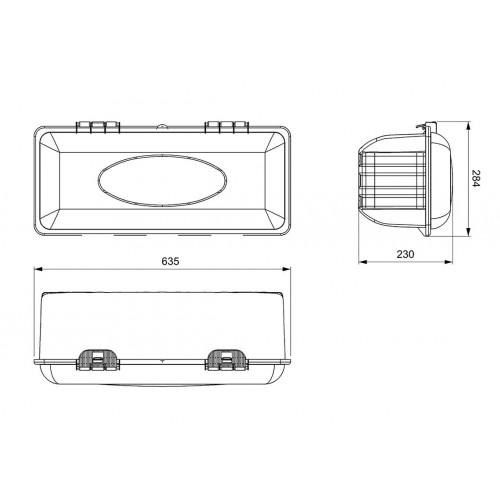 Coffres à extincteurs - Coffre extincteur 6kg rouge sangle clip réglable
