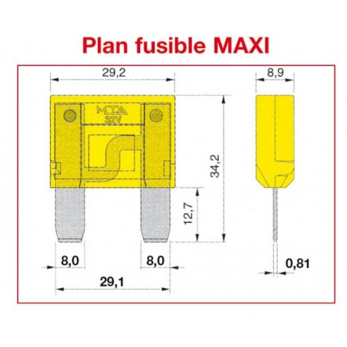 Fusible MAXI SAE J 1888 - ISO 8820 80A