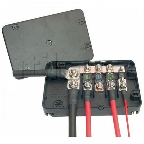 Boîtier de protection électrique pour 1 fusible MIDI + 3 fusibles MEGA