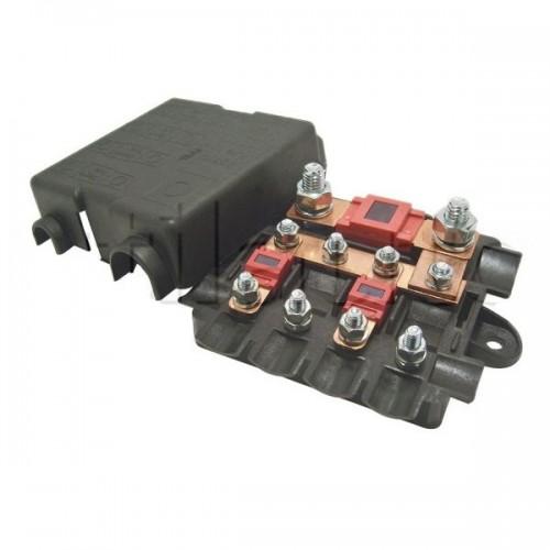 Boîtier de protection électrique pour 4 fusibles MIDI + 1 fusible MEGA