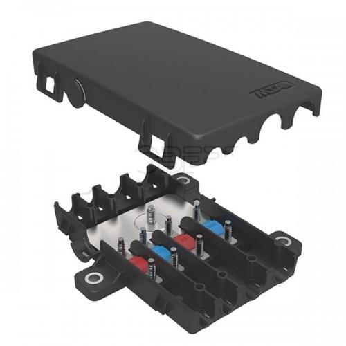 Boîtier de protection électrique + distribution pour 4 fusibles MIDI