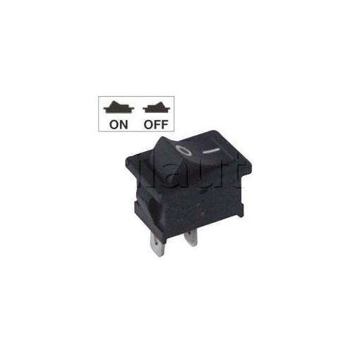 Interrupteur à bascule miniature - Bouton noir avec marquage 0 et 1